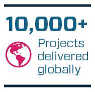 10,000+ Projects delivered globally